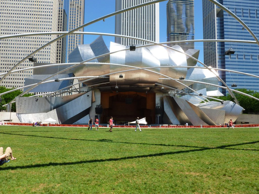 The front of FOG's Millenium Park, Chicago.